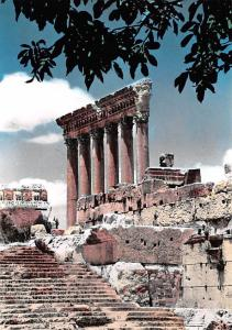 Baalbek, Lebanon Postcard, Carte Postale The Six Colums of Jupiter Temple Baa...