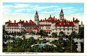 Florida St Augustine Hotel Ponce De Leon Curteich