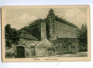 192384 POLAND KRAKOW Wawel view Vintage postcard
