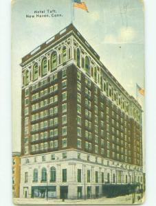 Divided Back TAFT HOTEL New Haven Connecticut CT HQ4941