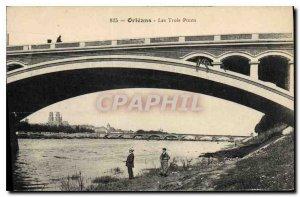 Old Postcard Orleans Three Bridges
