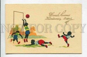 429105 LATVIA American football Vintage silhouette postcard