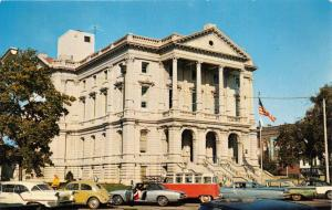 MARION INDIANA GRANT COUNTY COURTHOUSE~ON THE SQUARE DOWNTOWN POSTCARD 1960s