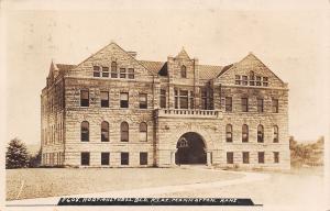 Manhattan Kansas State~KSAC Stone Horticultural Building~RPPC c1920