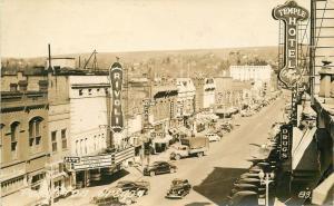 Autos 1942 Pendleton Oregon Rivoli Movie Theater Marquee RPPC Photo Postcard 131