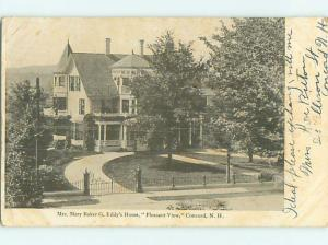 Pre-1907 MARY BAKER G. EDDY'S HOME Concord New Hampshire NH t3591
