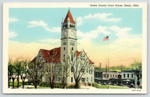 Xenia Ohio~Green County Courthouse~Sale at Store~Clevenger Hotel~1929 Linen PC