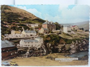 Vintage Postcard Across the Harbour Port Isaac Posted 1962c