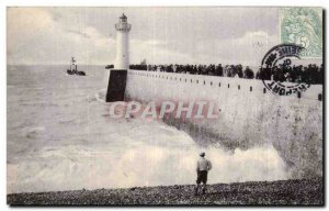 Old Postcard The Lighthouse Lighthouse Treport