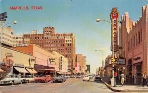 Amarillo Texas~Polk Street~Paramount Theater~Levines~Kenyon Shoes~1950s Cars