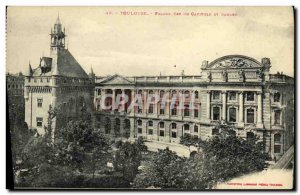 Old Postcard Toulouse Facade Is Du Capitole square and