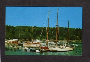 ME Northeast Harbor Marina Boats Sailboats Acadia National Park Maine Postcard