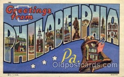 Philadelphia, Pennsylvania Large Letter Town Towns Post Cards Postcards  Phil...