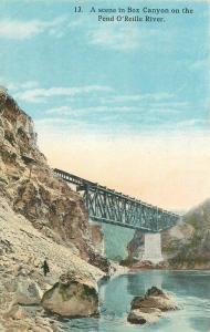 Box Canyon C-1910 Pend O' Reille River Robbins postcard 4814 IDAHO