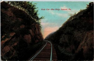 "Blue Ridge Summit PA * Rock Cut 1912 Franklin Co. ""Bought 112 Baskets of Peaches"