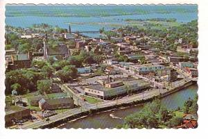 Bird's Eye View, Belleville, Ontario, HR Oakman Peterborough Post Card