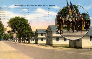 KS - Fort Riley. Barracks, Camp Funston