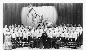 American Legion Chorus National Champions Sioux Falls Post SD RPPC postcard