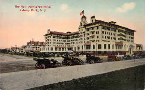 The New Monterey Hotel, Asbury Park, New Jersey, Early Postcard, Unused