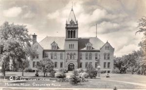D7/ Madison Minnesota Mn Photo RPPC Postcard Lac qui Parle County Court House