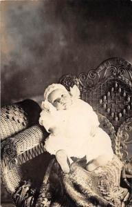 Baby Portrait laying on  Wicker Chair RPC