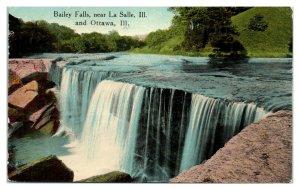 1915 Bailey Falls near La Salle, IL Postcard *5N(2)34