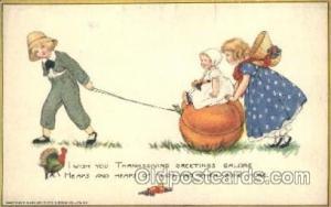 Artist Samuel Schmucker, Thanksgiving Postcard Postcards