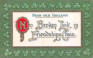 Dear Old Ireland St. Patricks Day Postcard unused