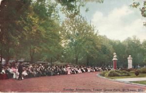 Postcard Sunday Afternoon Tower Grove Park St Louis Missouri