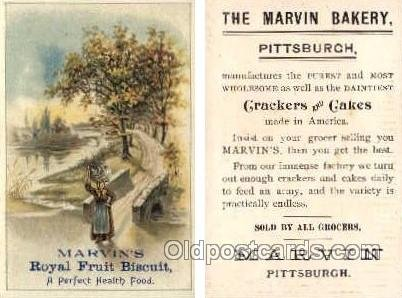 Marvin's Bakery, Pittsburgh  --  approx size inches = 2.75 x 4 Unused
