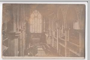Lancashire; Burnley, St Peter's Church Interior RP PPC 1904 Local PMK