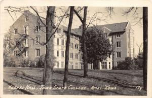 Ames Iowa~Iowa State College-University~Hughes Hall~Note from Student~1944 RPPC