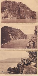 Bougie A Djidjelli Cap Carbon Algeria Rocks 3x Postcard s