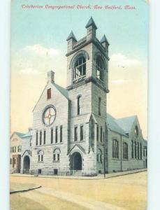 Divided-Back CHURCH SCENE New Bedford Massachusetts MA L6046