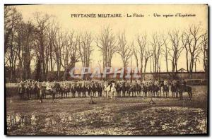Old Postcard Horse Horses Equestrian military academy The arrow A resumption ...