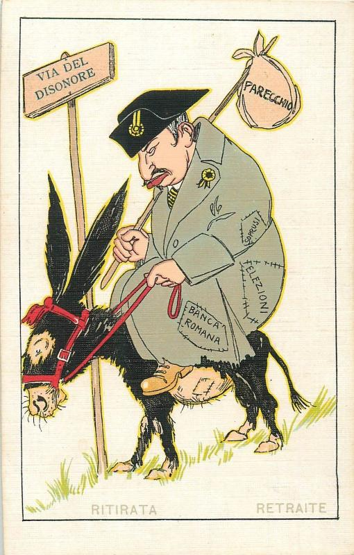 WW1 Italy Military Satire path of dishonor Elections Roman bank retreat donkey