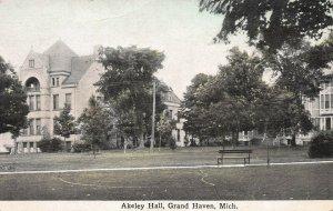 Akeley Hall, Grand Haven, Michigan, early postcard, unused