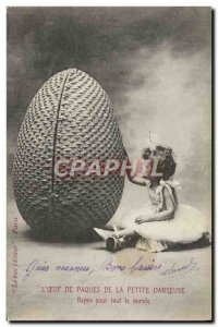 Old Postcard L & # 39oeuf Easter Rest of the little dancer for everyone