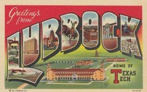 Large Letter LUBBOCK  Texas , 30-40s