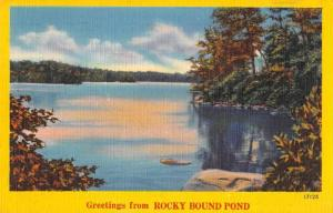 Rocky Bound Pond New Hampshire ? Greetings Scenic View Vintage Postcard JD933751