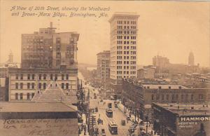 Alabama Birmingham 20th Street Showing Woodward and Brown-Marx Buildings 1907