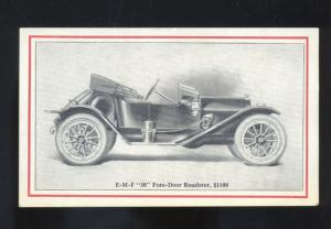 E-M-F 36 FORE DOOR ROADSTER ANTIQUE AUTOMOBILE AUTO CAR ADVERTISING POSTCARD