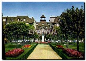 Modern Postcard Flowery Deauville Beach L Hotel Normandy