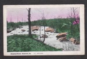 PA Stepping Stones SOMERSET PENN Postcard Hand Colored Pennsylvania
