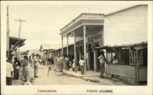Caimanera Cuba Street View Camera on Tripod Real Photo Postcard spg