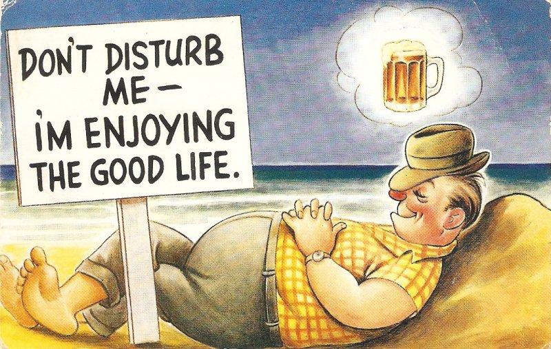 Don't disturb me-I'm enjoyig the good lif Baforth Seaside Comic Ser. PC # 2113