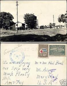 honduras, TEGUCIGALPA, Unknown Complex, TRAIN 40s RPPC