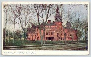 Fremont Nebraska~Fremont College~Main Building~Buildings in Distance~1908