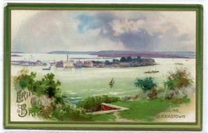 Haulbouline Queenstown St Patrick's Day Greeting Irish Ireland 1910c postcard