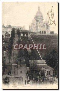 Postcard Old Paris Sacre Coeur Funicular